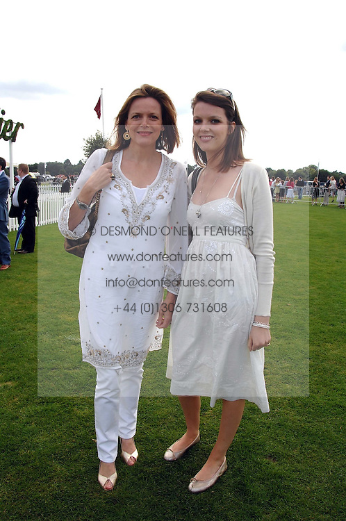 Left to right, the COUNTESS OF WOOLTON and her daughter GENEVIEVE CHAPMAN at the Cartier International polo at Guards Polo Club, Windsor Great Park on 29th July 2007.<br /><br />NON EXCLUSIVE - WORLD RIGHTS