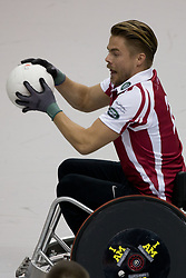 Dancing with the stars favorite Derek Hough found out how hard it is to play Rugby in a wheelchair, taking part in an exhibition match with other celebrities at The Invictus Games 2017 in Toronto Canada. 28 Sep 2017 Pictured: Derek Hough. Photo credit: MEGA TheMegaAgency.com +1 888 505 6342