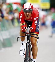 Sykkel<br /> Sveits Rundt 2015<br /> Foto: imago/Digitalsport<br /> NORWAY ONLY<br /> <br /> 21.06.2015 Tour de Suisse 9.Etappe Bern - Bern Zeitfahren Bild zeigt Vegard Breen (NOR) Team Lotto Soudal