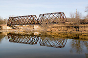 Minnesota USA, An old metal railroad bridge