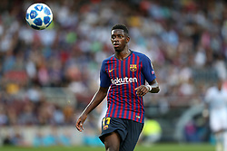 September 18, 2018 - Barcelona, Catalonia, Spain - Ousmane Dembele of FC Barcelona in action during the UEFA Champions League, Group B football match between FC Barcelona and PSV Eindhoven on September 18, 2018 at Camp Nou stadium in Barcelona, Spain (Credit Image: © Manuel Blondeau via ZUMA Wire)