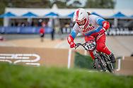 #135 (OVCHINNIKOVA Varvara) RUS at Round 2 of the 2020 UCI BMX Supercross World Cup in Shepparton, Australia.