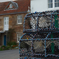 Lobster creels in Crail, Scotland