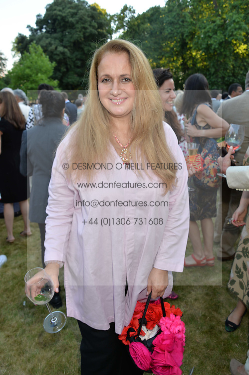 ISOBEL GOLDSMITH at the Quintessentially Foundation and Elephant Family 's 'Travels to My Elephant' Royal Rickshaw Auction presented by Selfridges and hosted by HRH The Prince of Wales and The Duchess of Cornwall held at Lancaster House, Cleveland Row, St.James's, London on 30th June 2015.