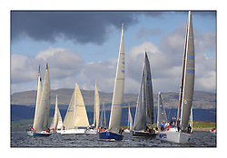 The Brewin Dolphin Scottish Series, Tarbert Loch Fyne..The Class two start on day one with Bataluer, and No Sense..