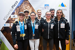 Slovenian national climbing team during PZS press conference after IFSC Climbing World Championships in Hachioji (JPN) 2019, on August 23, 2019 at Ministry of Education, Science and Sport, Ljubljana, Slovenia. Photo by Grega Valancic / Sportida