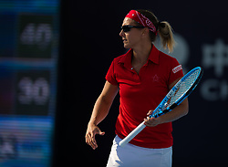 October 2, 2018 - Kirsten Flipkens of Belgium in action during her second-round match at the 2018 China Open WTA Premier Mandatory tennis tournament (Credit Image: © AFP7 via ZUMA Wire)