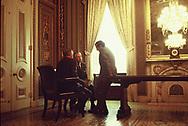 Senator Howard Baker at a small meeting off the Senate floor in  September 1969<br /><br /><br />Photo by Dennis Brack bb72