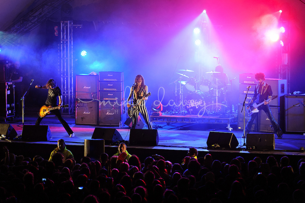 The Darkness Live @ Looe Music Festival, Adrenaline Quarry Stage, Sunday 29th September 2013.