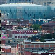 Zoom photo of Sprint Center arena in downtown Kansas City, MO.