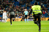 """A supporter go in tho the grass during the match of """"Copa del Rey"""" between Real Madrid and Cultural Leonesa at Santiago Bernabeu Stadium in Madrid, Spain. November 29, 2016. (ALTERPHOTOS/Rodrigo Jimenez)"""