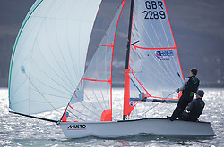 The annual RYA Youth National Championships is the UK's premier youth racing event. Perfect conditions for the fourth days racing.<br /> <br /> 2289, Pierce Harris, Alfie Cogger, Windermere School, 29er Boy <br /> <br /> Images: Marc Turner / RYA<br /> <br /> For further information contact:<br /> <br /> Richard Aspland, <br /> RYA Racing Communications Officer (on site)<br /> E: richard.aspland@rya.org.uk<br /> m: 07469 854599
