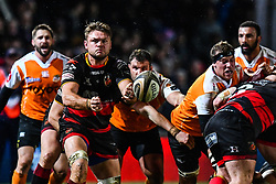 Dragons' Lewis Evans in action during todays match<br /> <br /> Photographer Craig Thomas/Replay Images<br /> <br /> Guinness PRO14 Round 18 - Dragons v Cheetahs - Friday 23rd March 2018 - Rodney Parade - Newport<br /> <br /> World Copyright © Replay Images . All rights reserved. info@replayimages.co.uk - http://replayimages.co.uk