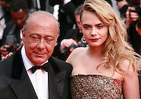 Fawaz Gruosi and Cara Delevingne at The Search gala screening red carpet at the 67th Cannes Film Festival France. Tuesday 20th May 2014 in Cannes Film Festival, France.