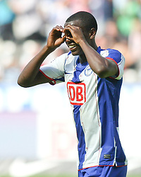 12.09.2010, Olympiastadion Berlin, GER, 2.FBL, Hertha BSC Berlin vs Arminia Bielefeld im Bild  Adrian Ramos (Hertha BSC Berlin #9) macht das 2:0 und jubelt  EXPA Pictures © 2010, PhotoCredit: EXPA/ nph/  Hammes+++++ ATTENTION - OUT OF GER +++++ / SPORTIDA PHOTO AGENCY