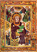 The Book of Kells, sometimes known as the Book of Columba),is an illuminated manuscript Gospel book in Latin, containing the four Gospels of the New Testament together with various prefatory texts and tables. It was created by Celtic monks ca. 800 or slightly earlier Folio 7v contains an image of the Virgin and Child. This is the oldest extant image of the Virgin Mary in a Western manuscript.