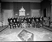 Sinead and Eamon de Valera meet Fianna Fail.07/01/1970