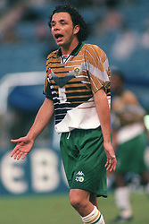 Mark Fish of South Africa appeals for the ball