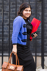 © Licensed to London News Pictures. 10/09/2013. London, UK. Baroness Warsi, Senior Minister of State, is seen on Downing Street in London today (10/09/2013) after a meeting of the British Government's cabinet. Photo credit: Matt Cetti-Roberts/LNP