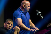 LAS VEGAS, NV - JULY 7:  Dana White speaks during the UFC 202 press conference at T-Mobile Arena on July 7, 2016 in Las Vegas, Nevada. (Photo by Cooper Neill/Zuffa LLC/Zuffa LLC via Getty Images) *** Local Caption *** Dana White
