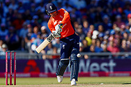 England T20 batsman Jason Roy with a boundary during the International T20 match between England and India at Old Trafford, Manchester, England on 3 July 2018. Picture by Simon Davies.