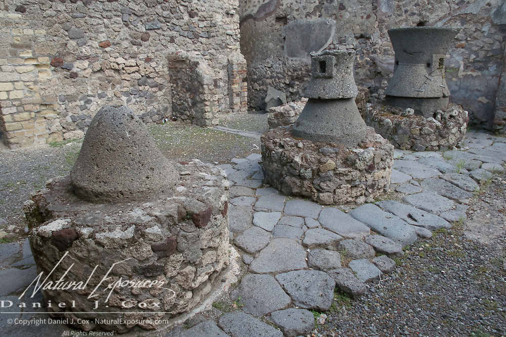 Details of the ancient city of Pompeii, Italy
