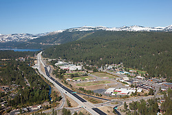 """""""Truckee Aerial 1"""" - Photograph of Truckee California, shot from an amphibious seaplane with the door removed. Donner Lake can be seen in the distance."""