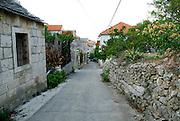 Back streets of Racisce, island of Korcula, Croatia