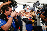 01 Volkswagen Motorsport, Ogier Sebastien, Ingrassia Julien, Volkswagen Polo Wrc, AMBIANCE WINNER, WORLD CHAMPION, with his wife Andrea Kaiser during the 2014 WRC World Rally Car Championship, rally of Spain from October 23th to 326th, at Salou, Spain. Photo Bastien Baudin / DPPI