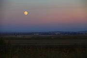 full Moon rising over the Jezreel Valley, Israel