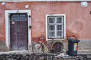 SERIES - UNRLIABLE-SIGHTINGS by PAUL WILLIAMS- Bike outside house Korszeg Hungary
