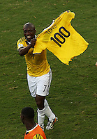 Fifa Soccer World Cup - Brazil 2014 - <br /> JAPAN (JPN) Vs. COLOMBIA (COL) - Group C - Arena Pantanal Cuiaba - Brazil (BRA) - June 24, 2014 <br /> Here Colombia player Pablo Armero. Tribute to Falcao.<br /> © PikoPress