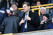 Constantine Gonticas, the club director of Millwall looking on from the stands. The Emirates FA Cup 3rd round match, Millwall v AFC Bournemouth at The Den in London on Saturday 7th January 2017.<br /> pic by John Patrick Fletcher, Andrew Orchard sports photography.
