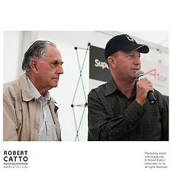 Sir Jack Brabham;Michael Garlick at the Launch of the Bruce McLaren Movie project at the A1 Grand Prix of New Zealand at the Taupo Motorsport Park, Taupo, New Zealand.