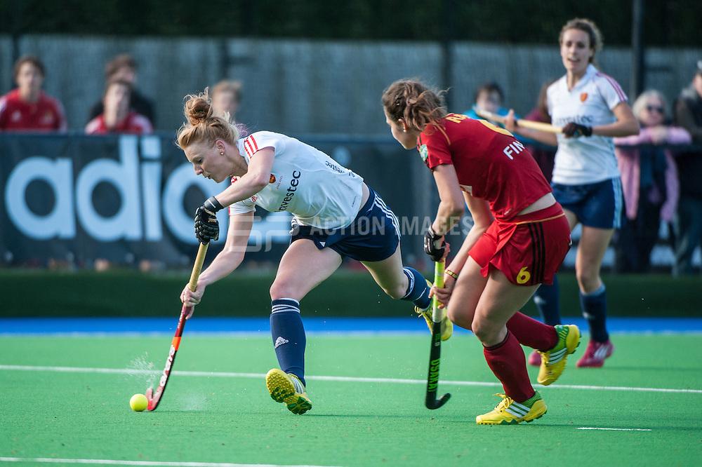 England's Nicola White. England v Belgium, Bisham Abbey, Marlow, UK on 09 May 2014. Photo: Simon Parker