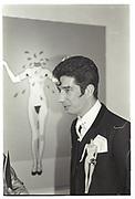 DUGGIE FIELDS AT HIS EXHIBTIION, ALBERMARLE GALLERY, LONDON. 1987