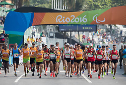 Runners at start of the Men's Marathon - T12 Final during Day 11 of the Rio 2016 Summer Paralympics Games on September 18, 2016 in Copacabana beach, Rio de Janeiro, Brazil. Photo by Vid Ponikvar / Sportida