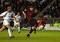 Photo: Tony Oudot.<br /> Milton Keynes Dons v Shrewsbury Town. Coca Cola League 2. Play off Semi Final 2nd Leg. 18/05/2007.<br /> Andy Cooke scores for Shrewsbury