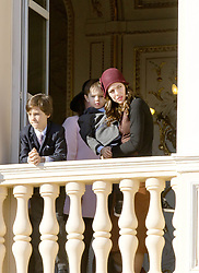 November 19, 2017 - Monte Carlo, MONACO - 19-11-2017 Monaco Princess Caroline of Hanover and Charlotte Casiraghi and Raphael and Sacha Casiraghi during the Monaco National Day Celebrations in Monaco...© PPE/NieboerCredit: PPE/face to face.- No rights for the Netherlands  (Credit Image: © face to face via ZUMA Press)
