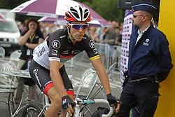 01.07.2012, Luettich, BEL, Tour de France, 1. Etappe Luettich-Seraing, im Bild GALLOPIN Tony (RadioShack Nissan) streckt die Zunge raus // during the Tour de France, Stage 1, Liege-Seraing, Belgium on 2012/07/01. EXPA Pictures © 2012, PhotoCredit: EXPA/ Eibner/ Ben Majerus..***** ATTENTION - OUT OF GER *****