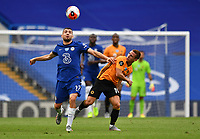 Football - 2019 / 2020 Premier League - Chelsea vs. Wolverhampton Wanderers<br /> <br /> Chelsea's Mateo Kovacic battles for possession with Wolverhampton Wanderers' Daniel Podence, at Stamford Bridge.<br /> <br /> COLORSPORT/ASHLEY WESTERN