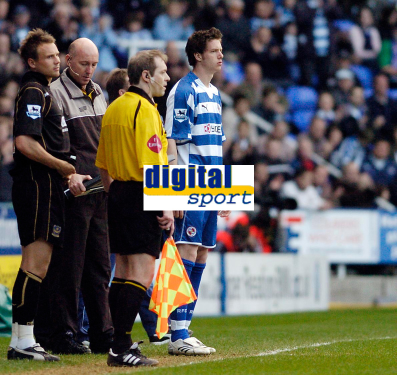 Photo: Leigh Quinnell.<br /> Reading v Portsmouth. The Barclays Premiership. 17/03/2007. Greg Halford makes his first start for Reading.