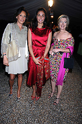 Left to right, SARA CARELLO, INES SASTRE and MRS FORBES SINGER at the annual Cartier Chelsea Flower Show dinner held at the Chelsea Physic Garden, London on 21st May 2007.<br /><br />NON EXCLUSIVE - WORLD RIGHTS