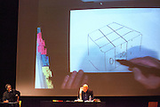 To mark the opening of his exhibition 77 MILLONS PAINTINGS in Madrid , Brian Eno has given a conference at La Casa Encendida to learn more about his work