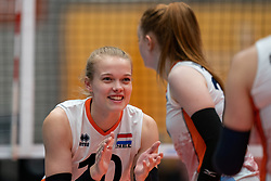 Iris Vos of Netherlands in action during Brazil - Netherlands, FIVB U20 Women's World Championship on July 11, 2021 in Rotterdam