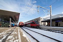 15.01.2013, Schladming, AUT, FIS Weltmeisterschaften Ski Alpin, Schladming 2013, Vorberichte, im Bild der Bahnhof Schladming am 15.01.2013 // the railway station of Schladming on 2013/01/15, preview to the FIS Alpine World Ski Championships 2013 at Schladming, Austria on 2013/01/15. EXPA Pictures © 2013, PhotoCredit: EXPA/ Martin Huber