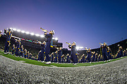 October 12, 2019:  Notre Dame band performs prior to NCAA football game action between the USC Trojans and the Notre Dame Fighting Irish at Notre Dame Stadium in South Bend, Indiana.  Notre Dame defeated USC 30-27.