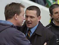 Photo: Olly Greenwood.<br />West Ham United v Watford. The Barclays Premiership. 10/02/2007. Watford manager Aidy Boothroyd and West Ham manager Alan Curbishley