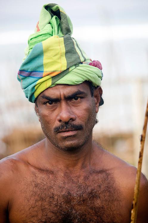 Portrait of a fisherman in Weligama, Sri Lanka