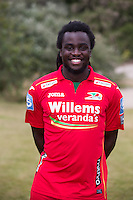 20150626 - OOSTENDE, BELGIUM: Oostende's Jordan Lukaku pictured during the 2015-2016 season photo shoot of Belgian first league soccer team KV Oostende, Friday 26 June 2015 in Oostende. BELGA PHOTO KURT DESPLENTER